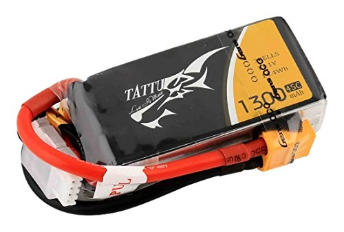 Preisvergleich Produktbild Gens Ace TATTU LiPo Akku Pack 3S 1300mAh 11,1V 45C -90C 250 FPV Racing