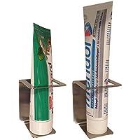 Zahnpastahalter aus Edelstahl / Halter für Zahnpasta