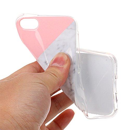 iPhone 5C Hülle Marmor, iPhone 5C Marble Case,iPhone 5C Weich Silikon Handyhülle,Lifetrut Marmor Design Soft Rückseite Stoßstange TPU Gummi Silikon Skin Tasche für iPhone 5C [Rauch] E205-Mischen