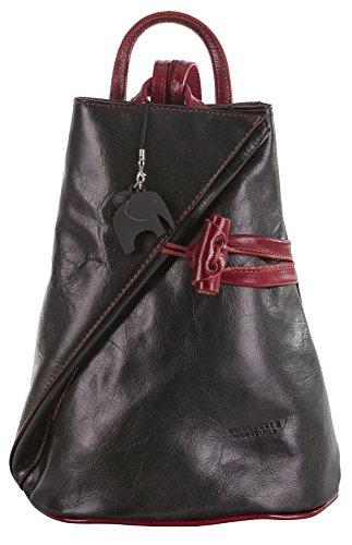 Big Handbag Shop, Borsa a spalla donna Black & Red