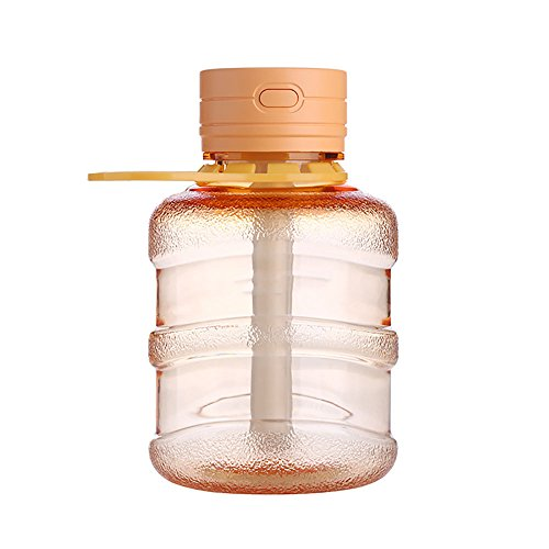 PRTQI Kreative Home Wohnzimmer Desktop Mini Verdunstungsluftbefeuchter Sieben Farbe Nachtlicht Mädchen Ätherisches Öl Reinigung Luftbefeuchter,Orange (Aromatherapie Kalt-warm)