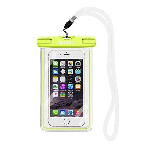 IPX8-Wasserdichte Hülle, fluoreszierend, haltbare Universal-Unterwasserhülle, mit Touch-Reaktionsfähigkeit, transparentes Fenster, wasserdichtes Versiegelungs-System, für iPhone 6s, 7,7 plus, 5s, SE, Samsung Galaxy S7 Edge, S6 Edge, S5, S4 und andere Smartphones; wasserdichte - Box Case Andere S5