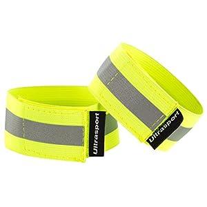 Ultrasport Klett-Reflektorbänder (2er-Pack)  – Sicherheit bei allen Outdoor-Aktivitäten