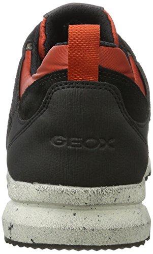 Geox U Geghy B ABX A, Scarpe da Ginnastica Basse Uomo Marrone (Dk Coffee/rust)