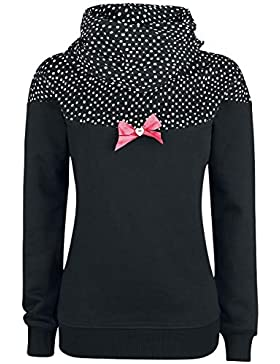 Pussy Deluxe Crumble Dotty Shawl Hoodie Jersey con Capucha Mujer Negro