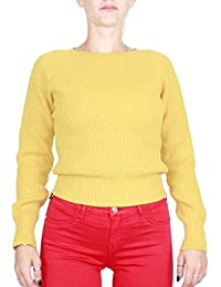 T Shirts Manches Donna Kaos Maglia À Xl Femme Courtes Giallo vN0m8nw