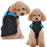 Dog Waterproof Cotton Warm Vest - Pet Clothes Padded Winter Down Jacket Coats Dogs Outfits Pet Skiing Protector Outdoor Cozy Apparel for Small Mediumn Dogs Puppy