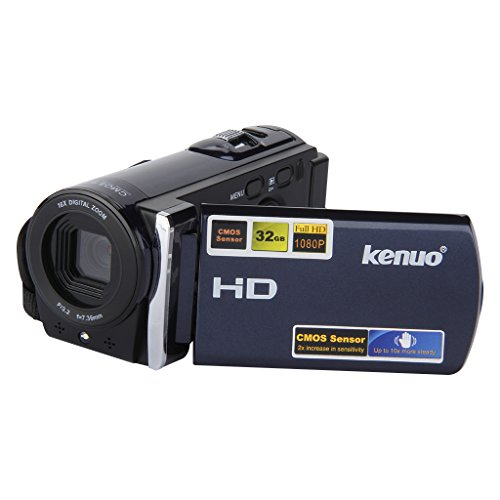 Kenuo HD 1080P 16MP Caméscope numérique DV caméra vidéo numérique 3.0 TFT LCD écran avec 16x Zoom DV (Bleu)