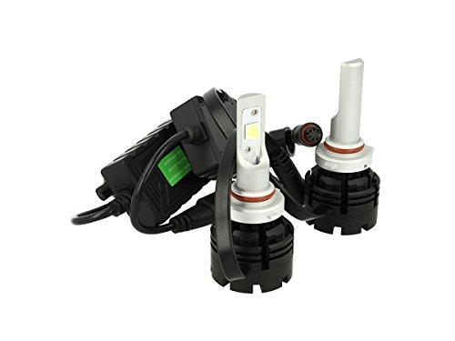 Kit Full Led Canbus HB3 9005 HB4 9006 40W Specifica Per Auto Con Faro Lenticolare Dissipatore A Ventilatore Cree XHP 70 Attacco Smontabile Fuoco Regolab