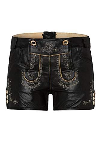 Edelheiss Moser Trachten Damen Lederhose kurz schwarz Janka 005468, Material