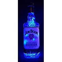 Jim Beam – Lámpara de botella con 80 LED azul Upcycling idea ...