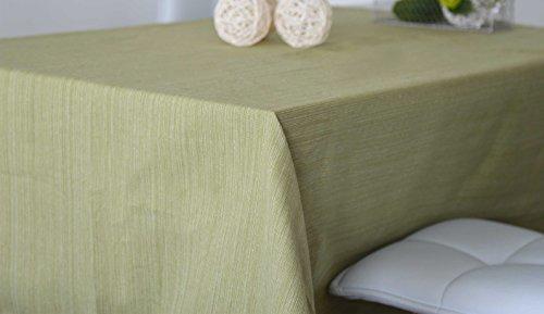 HomeMaison Nappe Carrée en 100% Coton Biologique, Vert, 170x170 cm