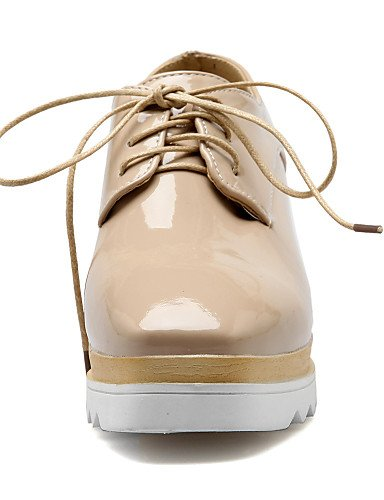 ZQ hug Scarpe Donna - Scarpe col tacco - Casual - Zeppe - Zeppa - Finta pelle - Nero / Bianco / Tessuto almond , white-us8 / eu39 / uk6 / cn39 , white-us8 / eu39 / uk6 / cn39 white-us5.5 / eu36 / uk3.5 / cn35
