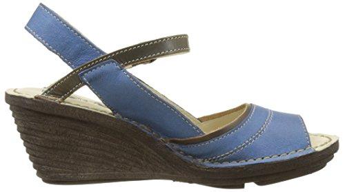 FLY London Damen Shea659fly Wedges Blau (smurfblue/khaki 003)