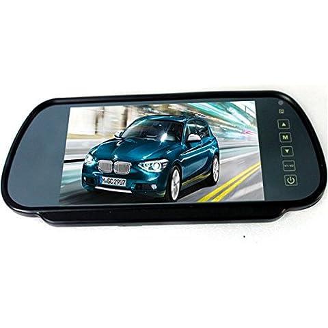 Poseidon 7 pollici TFT Ampio schermo LCD monitor specchietto retrovisore + auto parcheggio di inverso di retrovisione