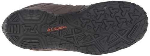 Columbia Redmond Mid Leather Omni-Tech, Scarpe da Arrampicata Uomo Marrone (Mud, Bright Copper 255Mud, Bright Copper 255)