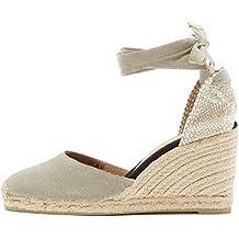 Minetom Sandali Donna Moda Espadrillas con Cinturino Casual Zeppa  Piattaforma Eleganti Estivi Sandals Romani Testa Tonda 70ebef5e06a