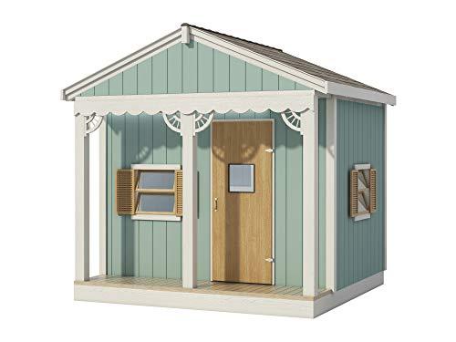Kinder-Spielhaus Plans DIY Micro Cottage Gästehaus Gartenhaus, 244 x 2,4 m