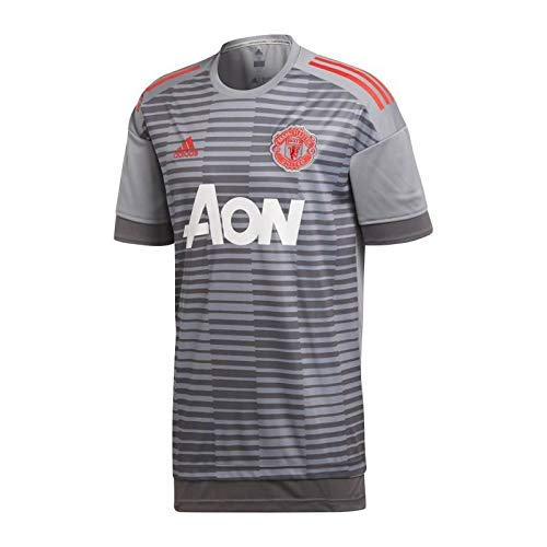 huge selection of 4ef3c 95bd6 adidas Manchester United FC Camiseta Calentamiento, Hombre, Gris (Gricin), M