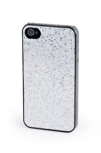 VCubed3 Glitter Hard Case, für iPhone 4 / 4S, Silber