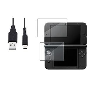 Oben & Boden LCD Folie+1.2M 4FT USB Ladeger�t Kabel f�r Nintendo 3DS XL/LL Neu