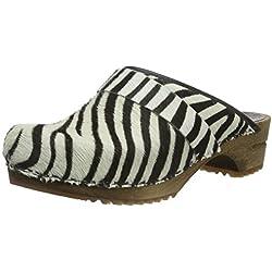 Sanita Damen Caroline Open Clogs, Mehrfarbig (Zebra 88), 38 EU