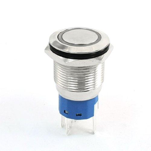 ß LED Leuchte 19mm Gewinde Verriegelung Edelstahl Einschaltknopf DE de ()