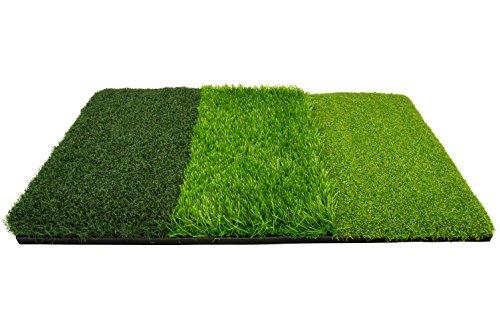 ON PAR Unisex Tri Turf Multifunktional Abschlagen und Chippen Praxis Golf trifft Matte, grün, 64x 40cm -