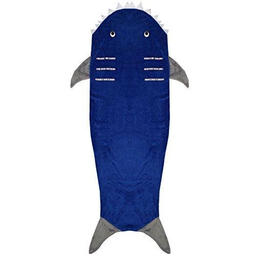 Shark Kleid (a2z 4 kids Kinder Decke Shark Weich Fleece Decken Schlaf Kostüm Tasche Kleider Einheitsgröße - Shark, One)