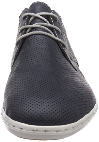Homens Rieker B9125 Derby Lace Up Brogues Azul (nautic / 14)