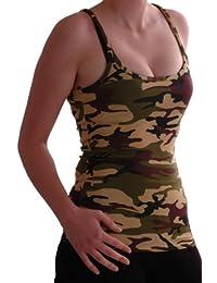 Eyecatch - Jane Racer Back Armee Style Camouflage Damen Vest Top