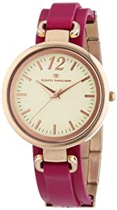 TOM TAILOR Damen-Armbanduhr Analog Quarz Leder 5412002