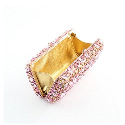 Della Borsa Diamante Sera Fiore Di Moda Per Donna Purple