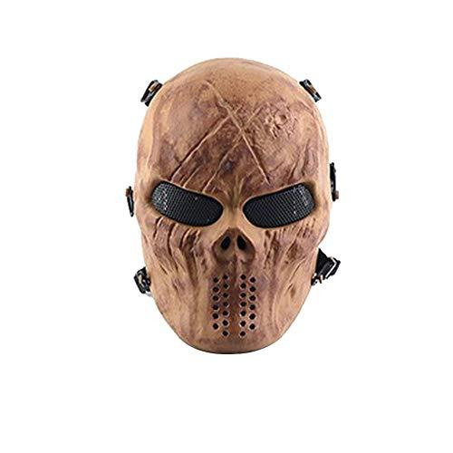 Eruditter 2018 Punisher Masken Real CS Feldschlacht Vollgesichtsschutz Horror Maske Outdoor Feldschlacht Maske (Venezianische Masken Männliche)