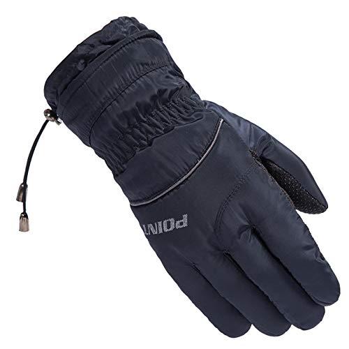 chuhe Racing Geeignet für Outdoor-Sport Wie Skifahren Und Radfahren Winter Handschuhe Touchscreen Damen Outdoor Handschuhe Herren Winddicht Marine Blau Einheitsgröße ()