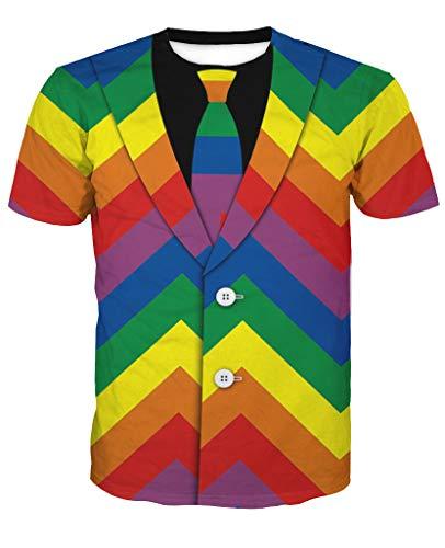 Sykooria Tshirt Herren Männer Sommer Überall 3D Druck Grafik Farbe Jungen Hipster Tshirt