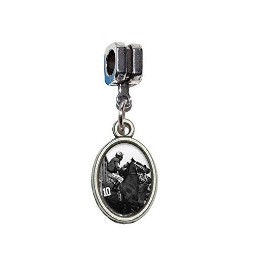 Horse Racing–Race Track Wetten Running Vintage italienische europäischen Euro-Stil Armband Charm Bead–für Pandora, Biagi, Troll,, Chamilla,, andere