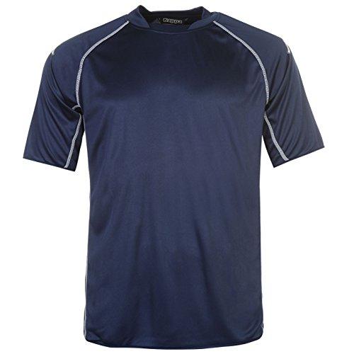 Kappa Masa Herren Fussball T Shirt Leicht Sport Training Kurzarm Flatlocknaehte Marineblau Lrg-XLrg (Lrg-print Jersey)