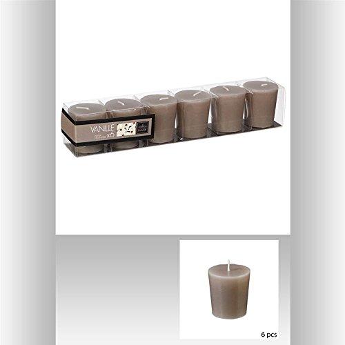 Bougies votives parfumées x6 vanille pbtr
