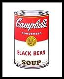 Andy Warhol Campbells Soup I 1968 black bean Poster Kunstdruck Bild im Alu Rahmen schwarz 42x34cm - Germanposters