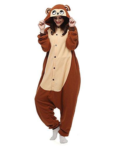 Tier Onesie Kostüme Kigurumi Affe Pyjama Schlafanzug Erwachsene Unisex Mann Dame Cosplay Jumpsuit Onesie M