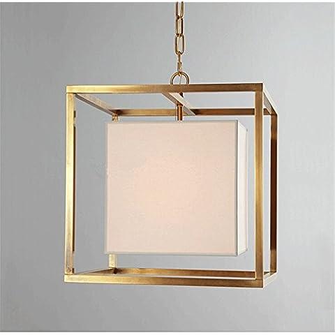 CAC Americano di moda rétro ferro oro Ciondolo lampada camera da letto soggiorno Ristorante arte europea luce pendente,Dia 30cm