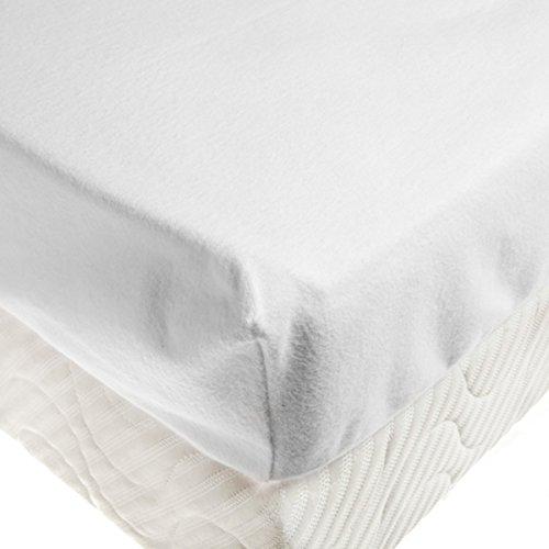 Tradition des Vosges Alese Protège Matelas Drap-Housse Molleton Gratte 60 x 120 cm Bonnet de 30 cm Blanc