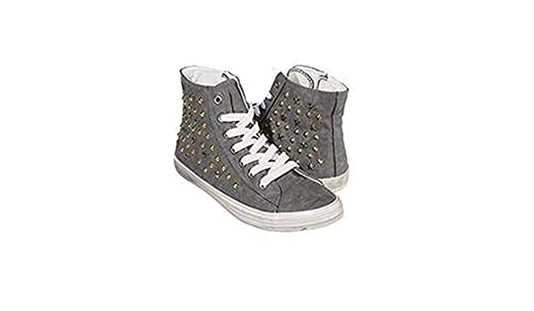 ESMARA Sneaker Donna Scarpe Tempo Libero Rivetti, Grigio (Grau), 38