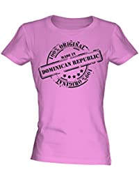 Made In Dominican Republic - Ladies Fitted T-Shirt T Shirt Tee Top