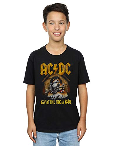 AC/DC Jungen Give The Dog A Bone T-Shirt Schwarz 3-4 Years -