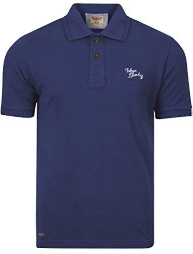 Tokyo Laundry Herren Whidbey Regulär Kurzarm Piqué Basic Poloshirt Größe S- XXL Sapphire