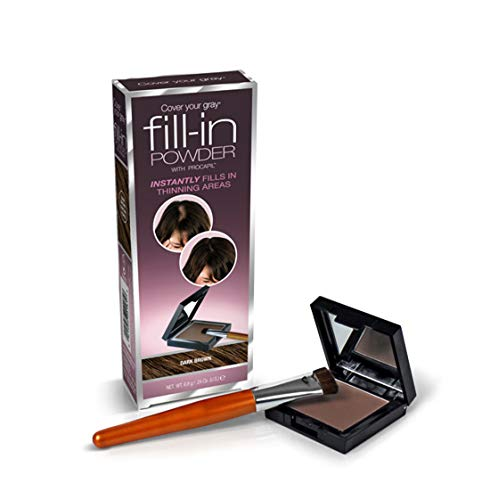 Cover Your Gray Fill In Powder for women Instant Touch Up DARK BROWN by FILL-IN