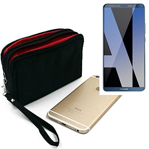 K-S-Trade Für Huawei Mate 10 Pro Dual SIM Gürteltasche schwarz Travel Bag, Travel-Case mit Diebstahlschutz praktische Schutz-Hülle Schutz Tasche Outdoor-case für Huawei Mate 10 Pro Dual SIM - K