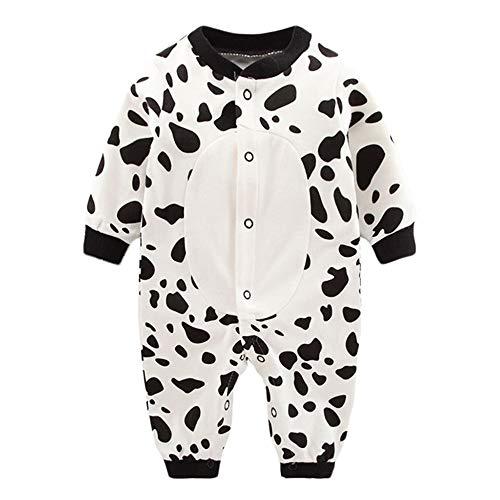 Anywow Neugeborenen Strampler Säugling Jungen Mädchen Cartoon Pyjamas Langarm Nachtwäsche Onesie Overall Bodys Einteiler 0-12 Monate -